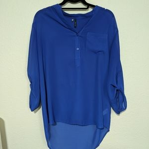 Maurices Royal Blue Sheer Blouse